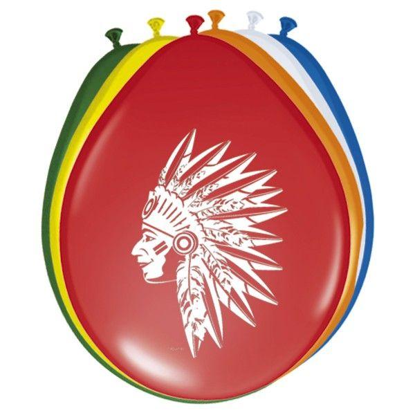 Luftballons Indianer, 8 Stück