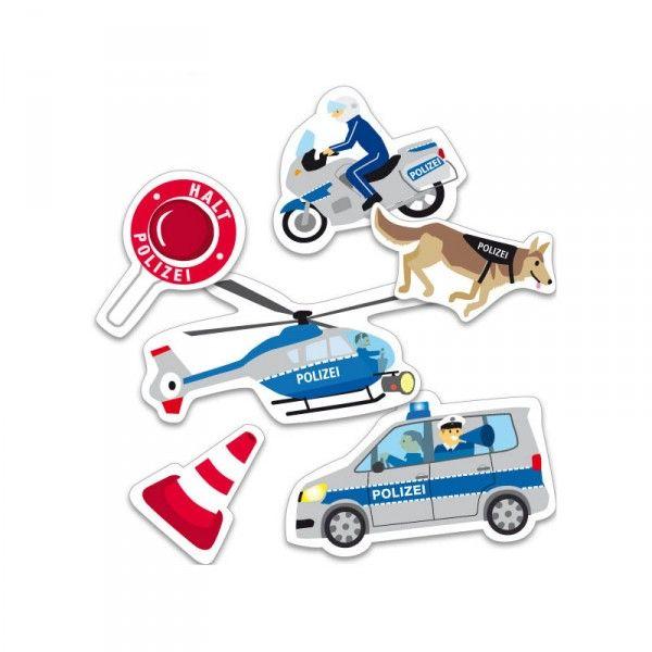 XXL-Konfetti Polizei, 24 Stück