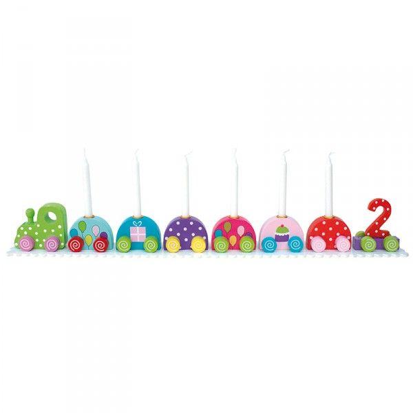 Geburtstagszug mit Zahlen 0-9