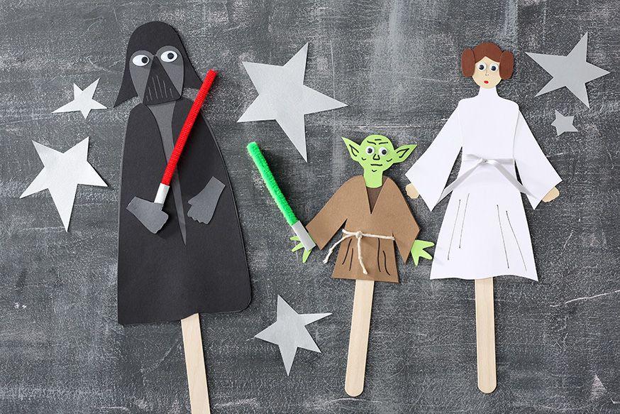 Egal welcher Charakter aus Star Wars, mithilfe von Holzspateln lassen sich lustige Puppen basteln. • Umsetzung und Foto: Thordis Rüggeberg