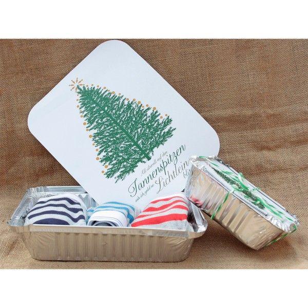 Geschenkverpackung Aluschalen Tannenbaum, groß X