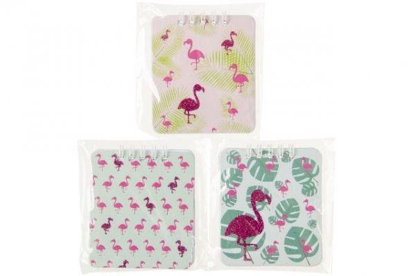Notizbuch Spiralbuch Flamingo