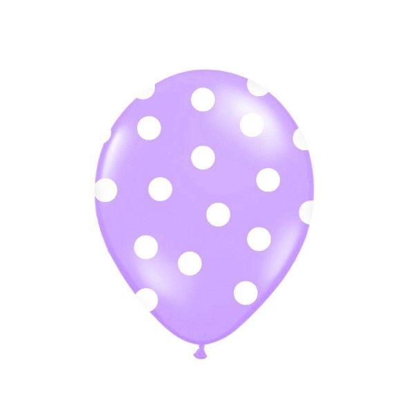 Luftballons mit  Punkten lila,  6 St