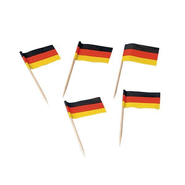 Party Picker Deutschland Fahne, 50 Stück