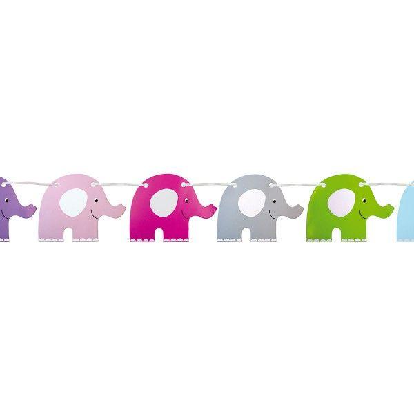 Wimpelkette Elefant, 4,5m