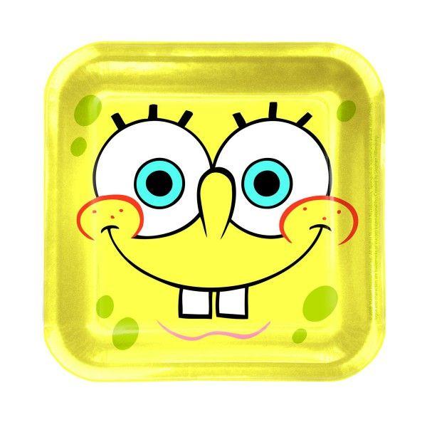 SpongeBob Pappteller, 8 Stück