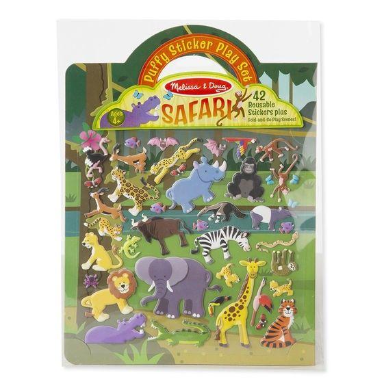 Polster-Sticker Safari, 42-teilig