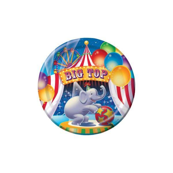 Pappteller Zirkus, ø23cm, 8 Stück