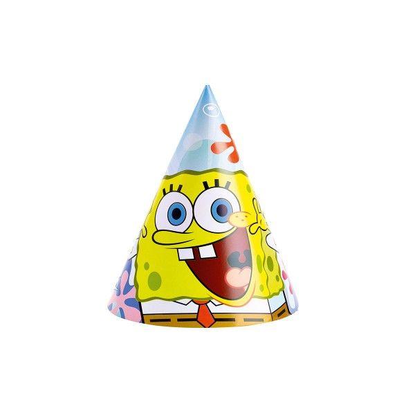 Partyhüte SpongeBob, 6 Stück