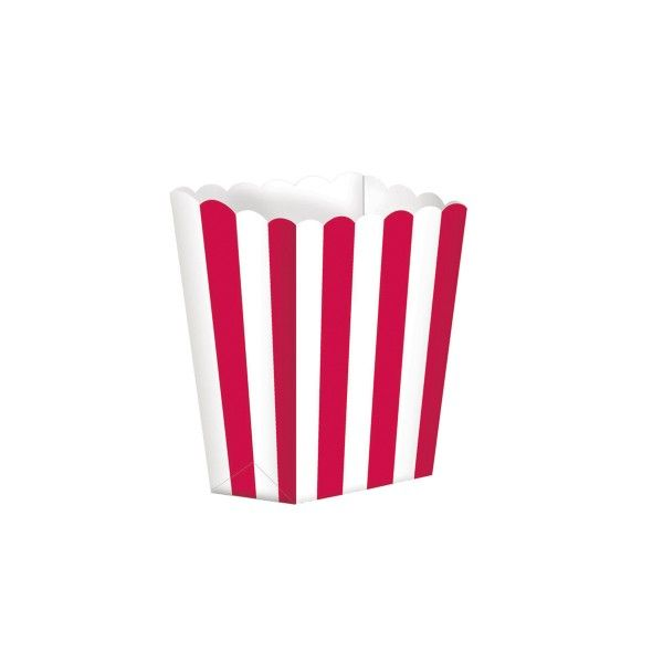 Popcorntüten, rot/weiß, 5 Stück