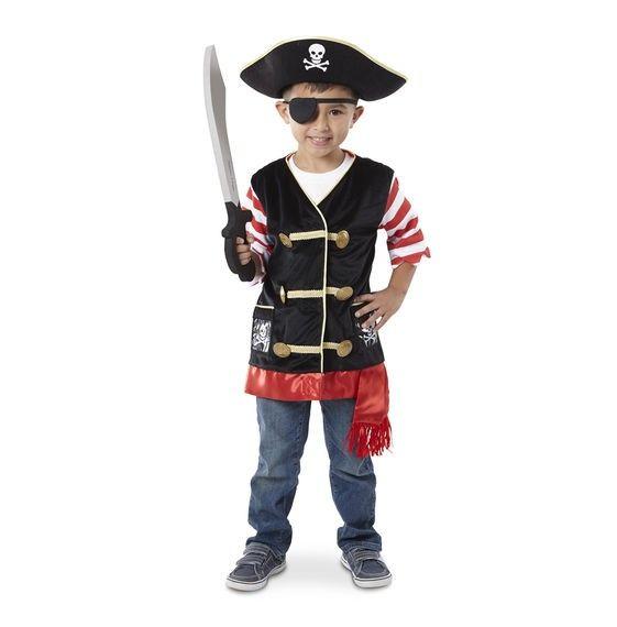Kostüm Pirat, Alter 3-6 Jahre, 4-teilig