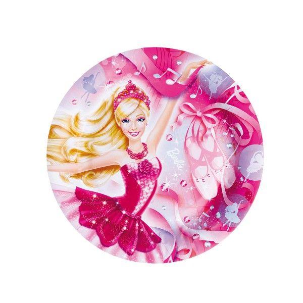 Pappteller Barbie,