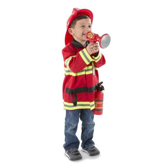 Kostüm Feuerwehrmann, Alter 3-6 Jahre, 1 Stück