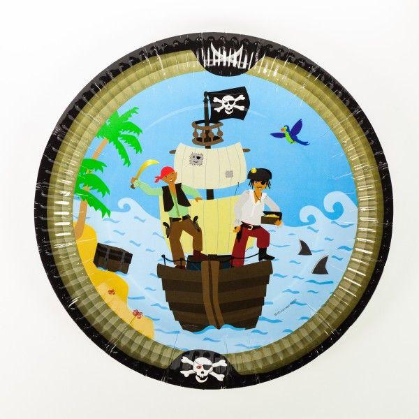 Pappteller Pirat