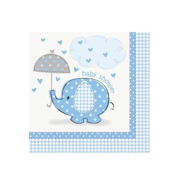 Servietten Baby, blau, 33cm, 16 St