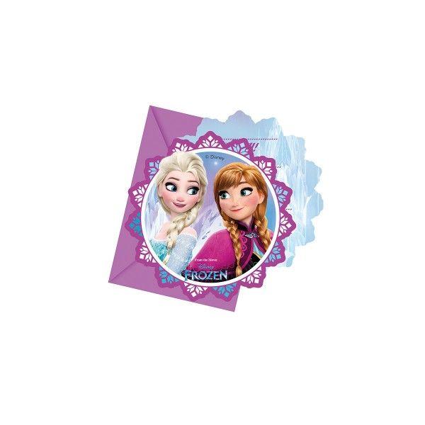 Einladungen mit Umschlag, Eiskönigin, 6 Stück