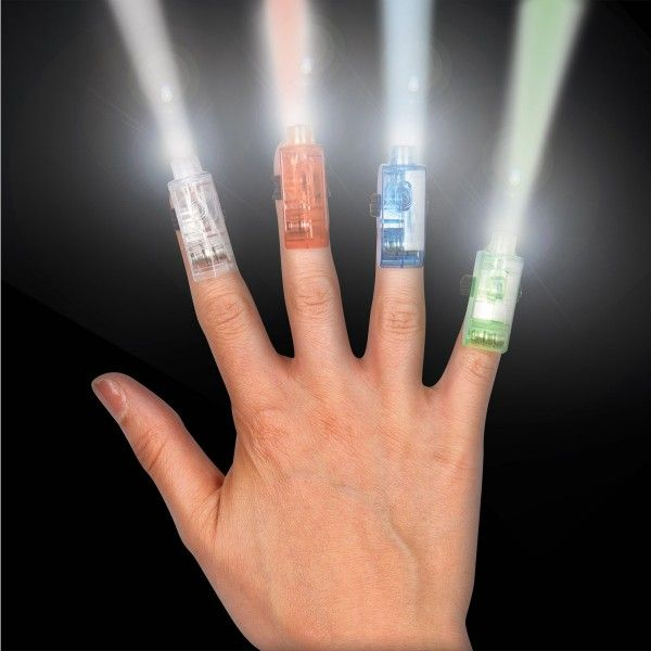 Superhelden Fingerlichter, 4 Stück