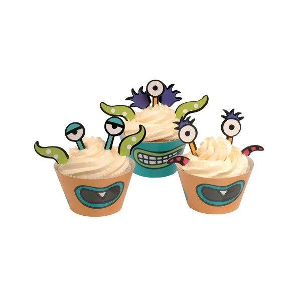 Muffinformen und Muffinpicker Monster Madness, 10 Formen und 20 Picker