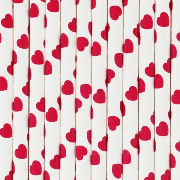 Strohhalme-Herzen-pink-25-Stueck-neu