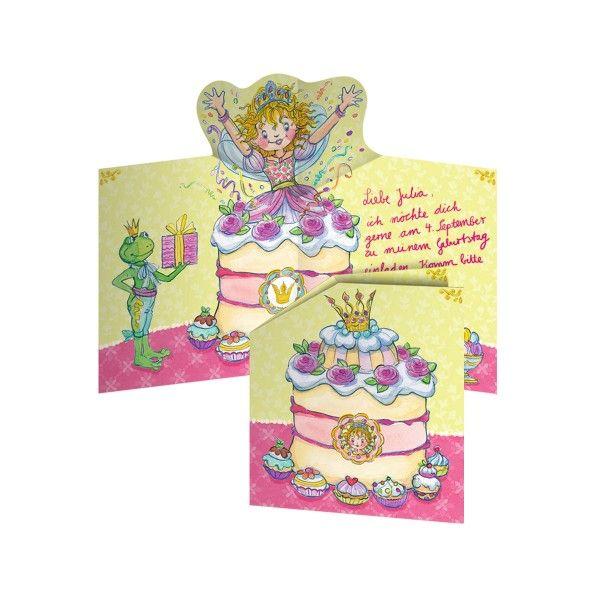 Prinzessin Lillifee Einladungskarten, 8 St