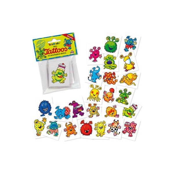 Mini-Tattoo Set Monster, 24-teilig