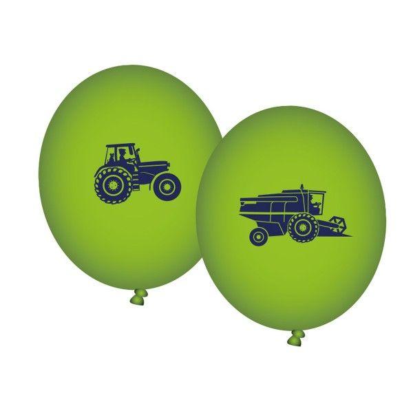 Ballons Bauernhof, bedruckt, 8 St