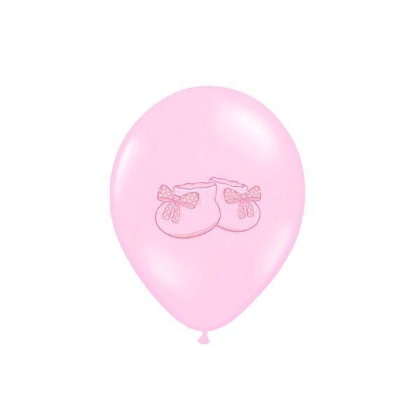 T1142528-Luftballons-Babyschuhe-pastell-rosa-6-Stueck