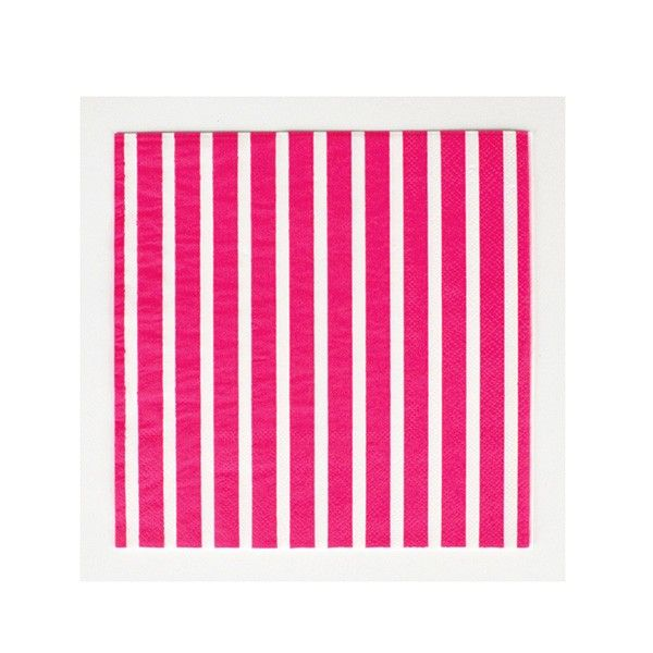 Servietten-Streifen-pink-33cm-20-Stueck-neu