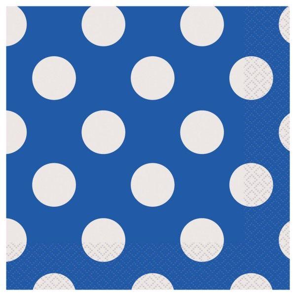 Servietten Punkte, blau, 16 St