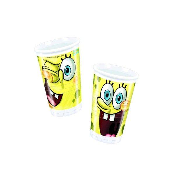 SpongeBobTrinkbecher, 200 ml, 8 St