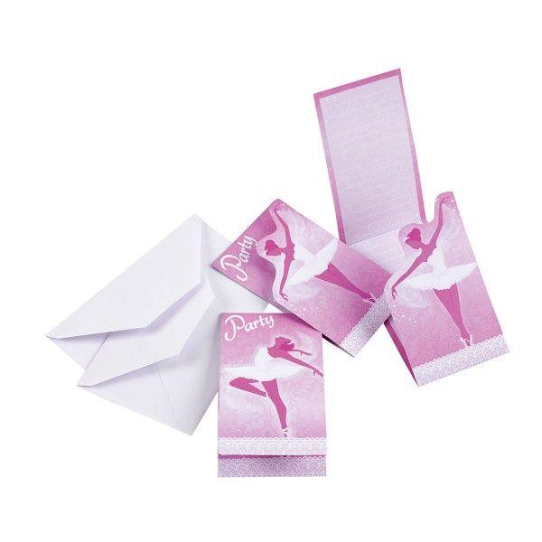 Einladungskarten Ballerina, 8 St