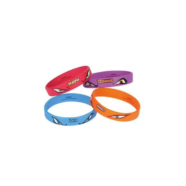 T1142248-Gummi-Armband-Ninja-Turtles-4-Stueck
