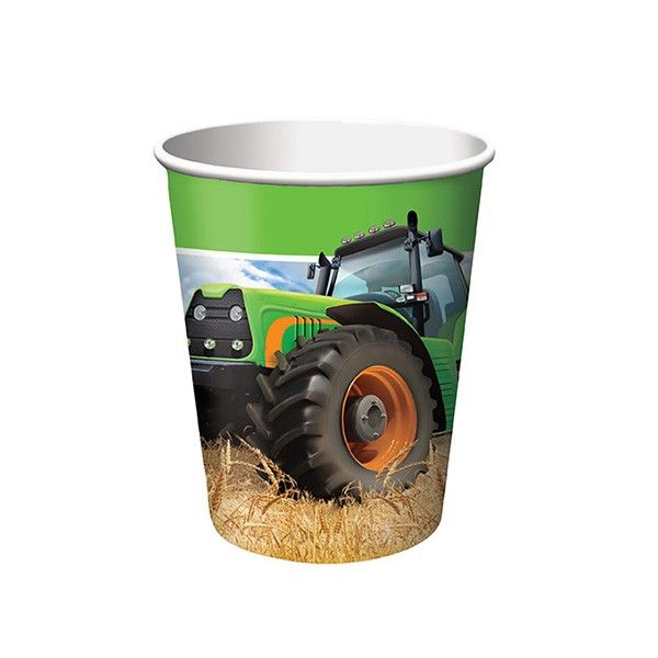 Pappbecher-Traktor-256ml-8-Stueck