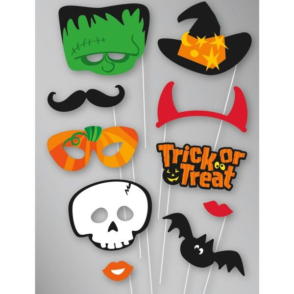 Foto Accesssoires/Foto Booth Halloween, 10-teilig