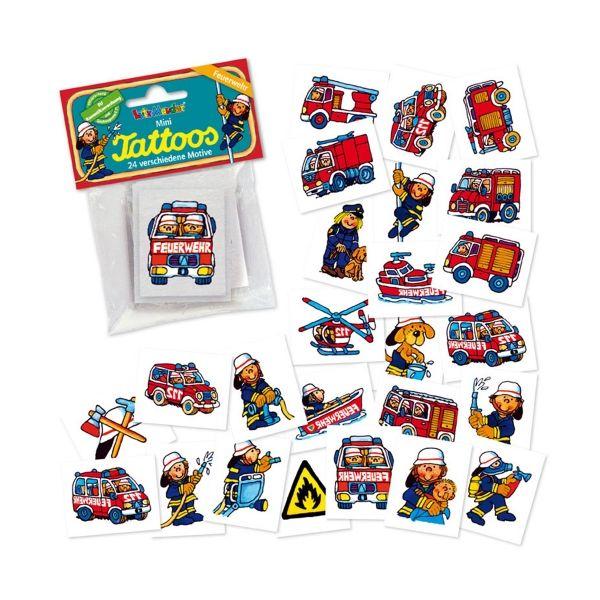 Mini-Tattoo-Set Feuerwehr, 24-teilig