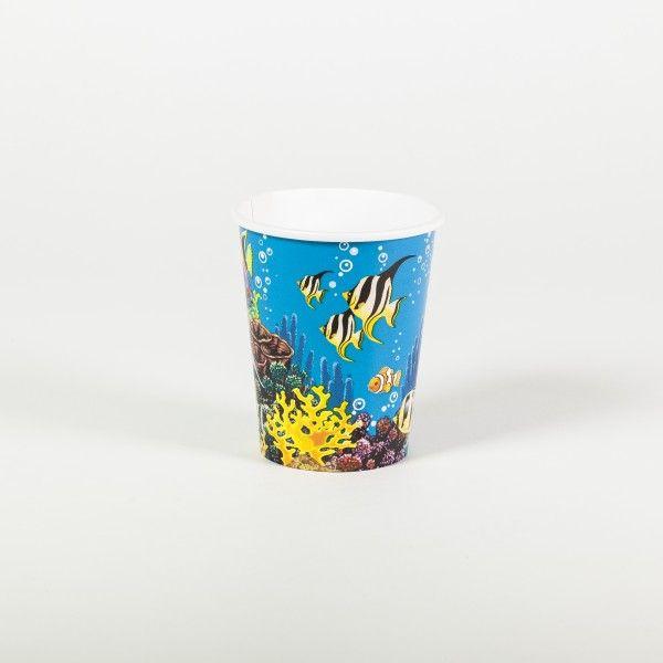 Pappbecher Unterwasserwelt