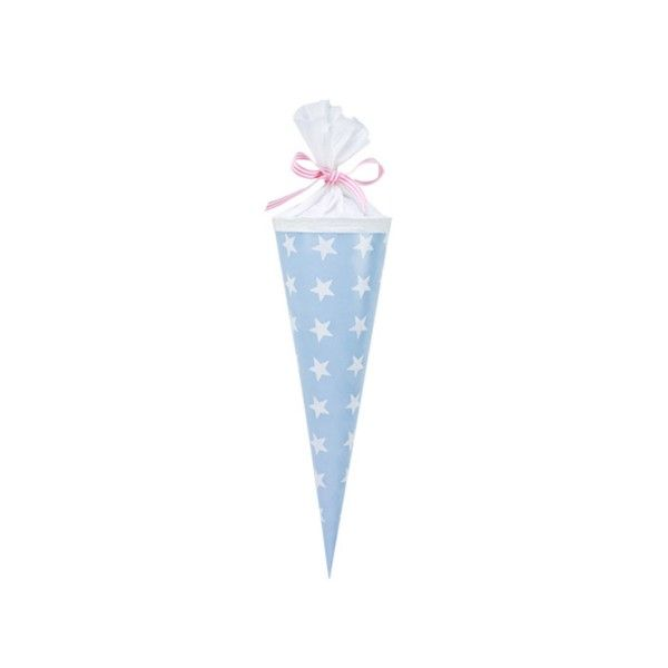 Schultuete-Sterne-hellblau-35cm