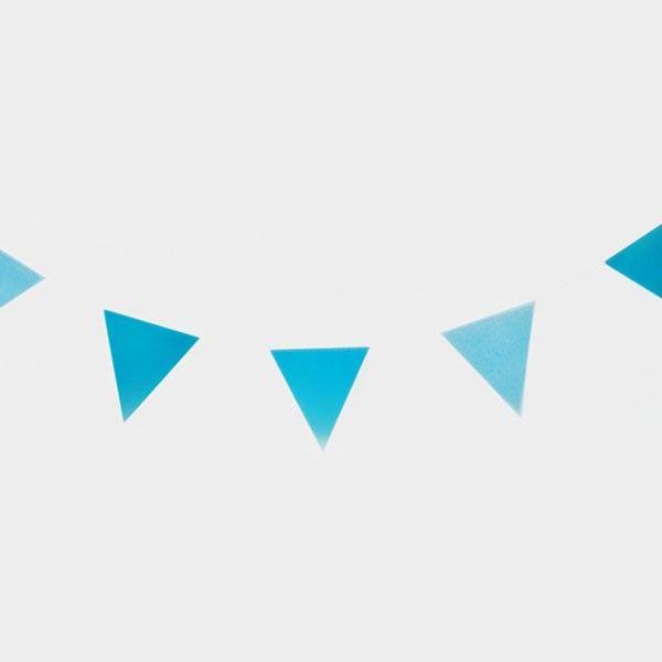 Wimpelkette-blau-3m-neu