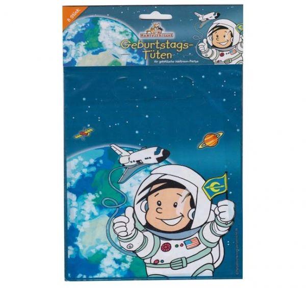 Partytüten Astronaut Flo, 8 Stück