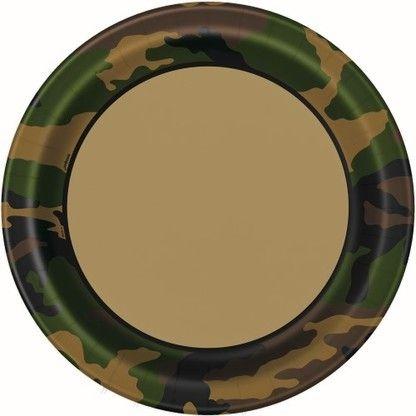 Pappteller Camouflage, ø 22 cm, 8 Stück