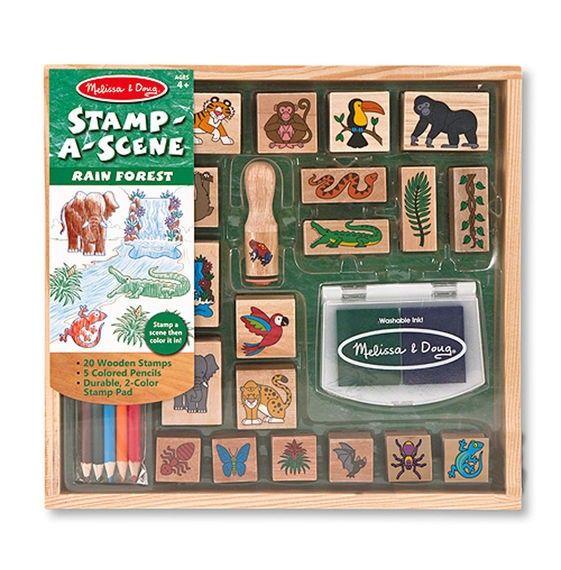 stamp a scene - Themen-Stempel-Set Dschungel