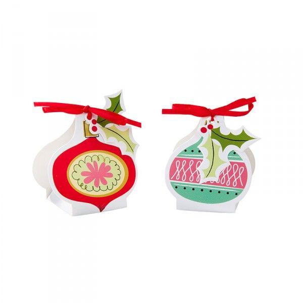 Partyboxen Weihnachten Christbaumkugeln, 8 Stück