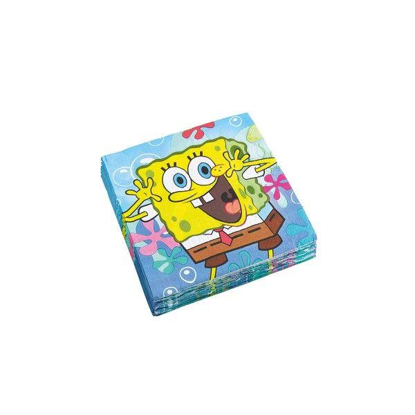 Servietten SpongeBob, 33x33cm, 20 Stück