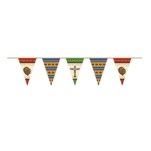 Wimpelkette Indianer, 45cmx6m