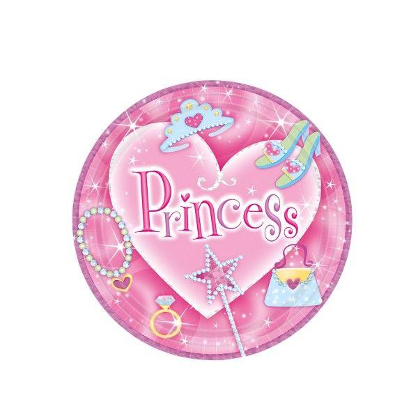 Pappteller Prinzessin, ø 23cm, 8 Stück