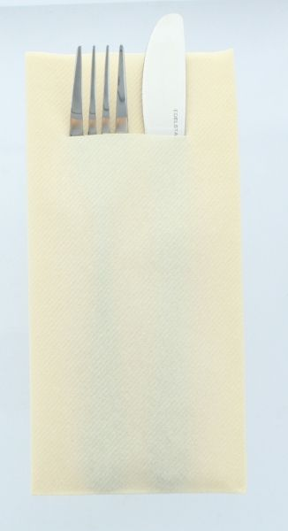 Besteckservietten Creme, 40cm, 12 Stück