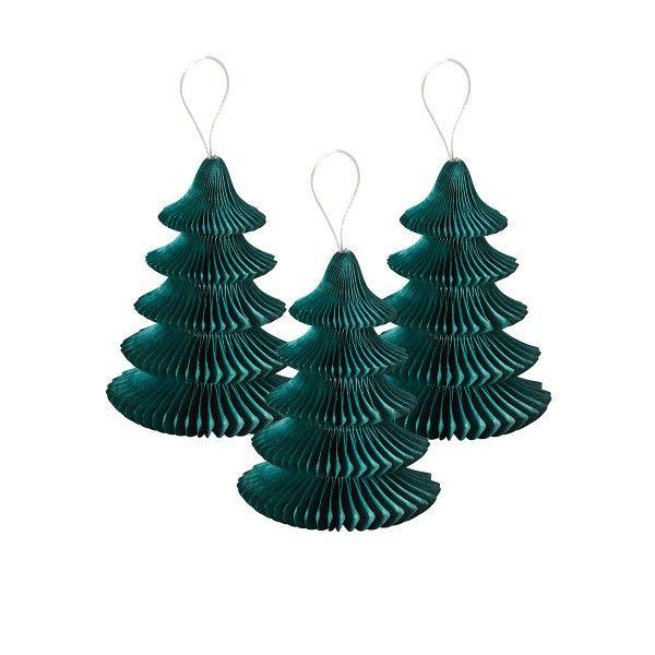 Wabendeko Mini-Weihnachtsbaum, 5 St