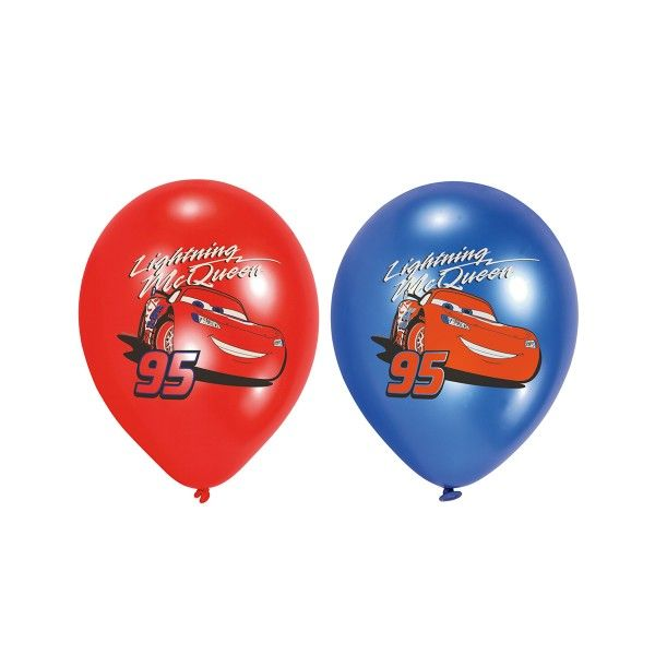 Luftballons Cars, vierfarbig,  6 St
