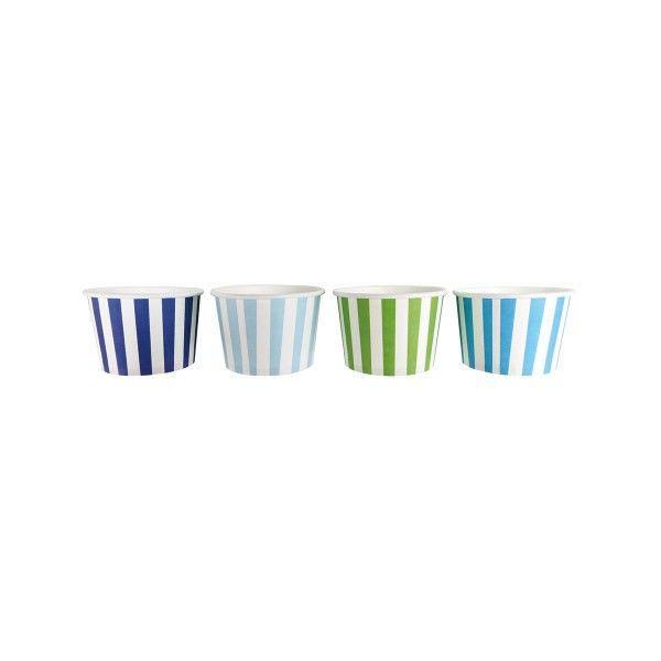 Eis- und Naschbecher, blau, 6cm, 8 St