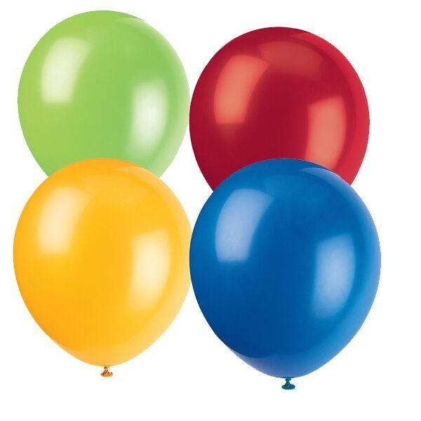Luftballons, Bunt sortiert, 10 Stück